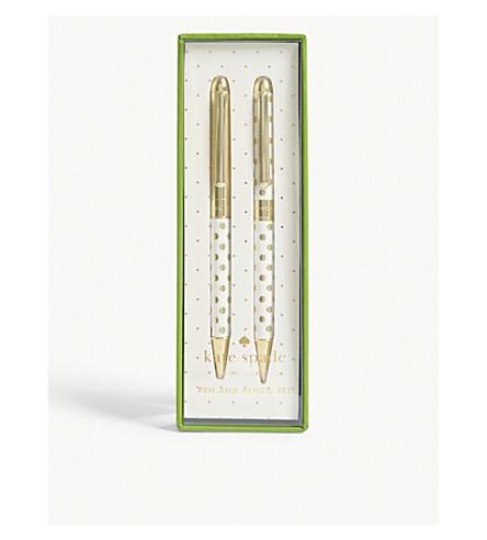 KATE SPADE NEW YORK Gold Dot pen & pencil set