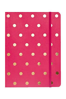 SUGAR PAPER Raspberry polka dot journal