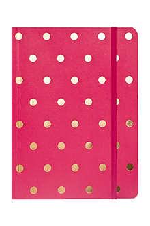 SUGAR PAPER Raspberry polka dot journal