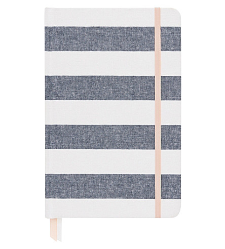 SUGAR PAPER Essential chambray stripe journal