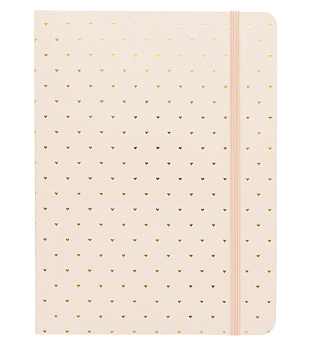 SUGAR PAPER Gold heart paper journal