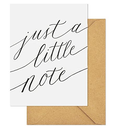 SUGAR PAPER Just a little note set