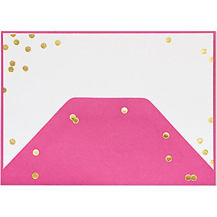 SUGAR PAPER Raspberry confetti note set