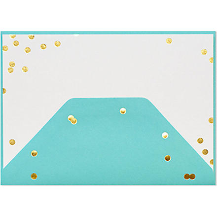SUGAR PAPER Pool blue confetti note set