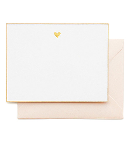 SUGAR PAPER Gold heart note set