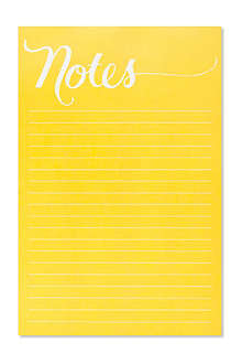 SUGAR PAPER Bright yellow notepad