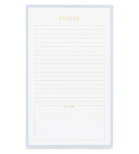 SUGAR PAPER Today paper notepad