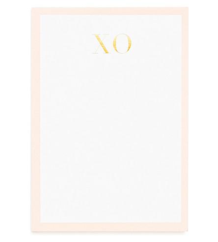 SUGAR PAPER XO paper notepad