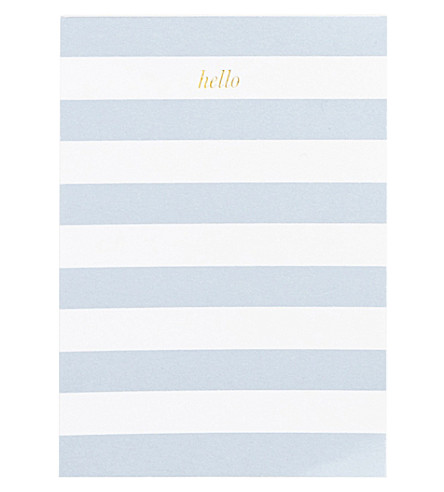 SUGAR PAPER Mini stripe hello notepad