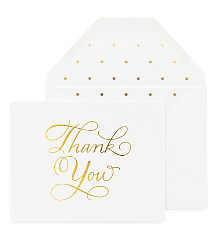 SUGAR PAPER Traditional thank you note set