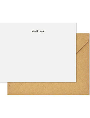 SUGAR PAPER Typewriter thank you note set