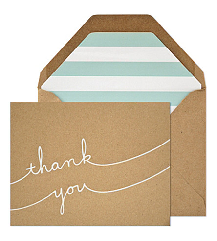 SUGAR PAPER Casual thank you note set