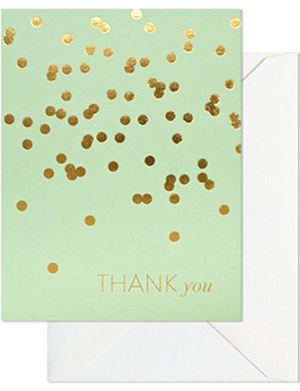 SUGAR PAPER Mint thank you set