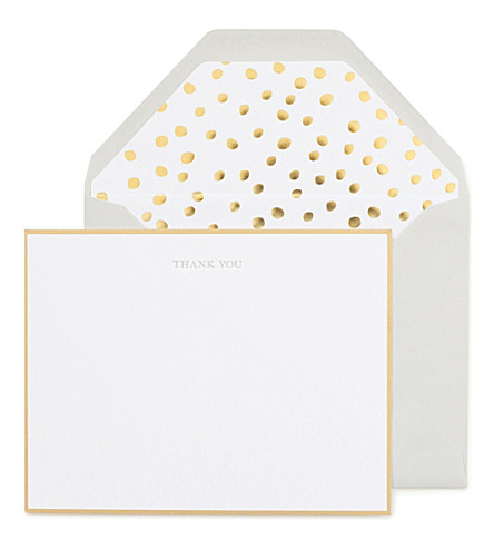 SUGAR PAPER Sophisticated thank you note set