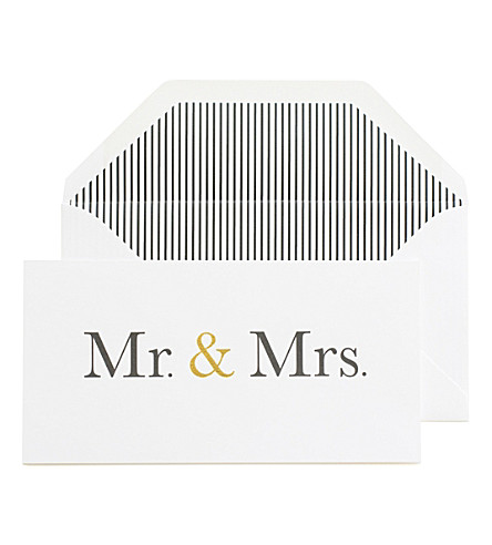 SUGAR PAPER Mr. and Mrs. wedding card