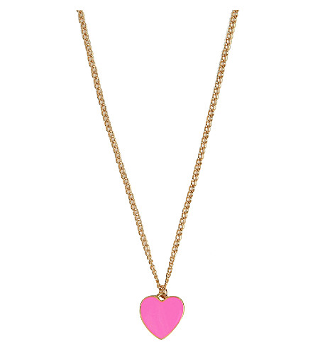 BANDO Supercute 18ct gold-plated heart necklace