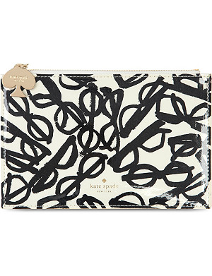 KATE SPADE NEW YORK Glasses print pencil pouch