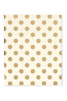 KATE SPADE Gold Dots spiral notebook