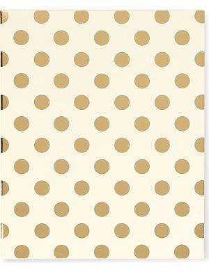 KATE SPADE NEW YORK Gold Dots spiral notebook