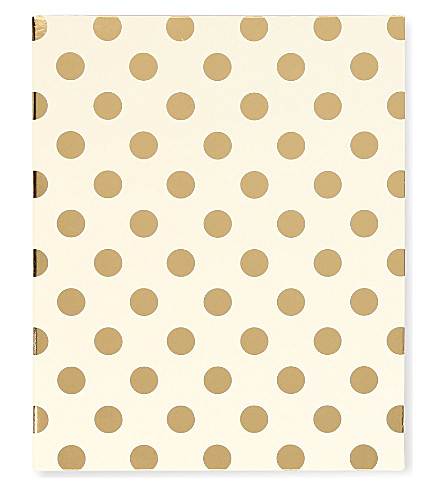 KATE SPADE NEW YORK Gold Dots spiral notebook