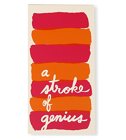 KATE SPADE NEW YORK A Stroke of Genius large notepad