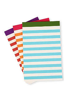 KATE SPADE Set of three lined writing pads
