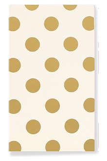 KATE SPADE Gold Dots notepad