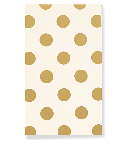 KATE SPADE NEW YORK Gold Dots notepad