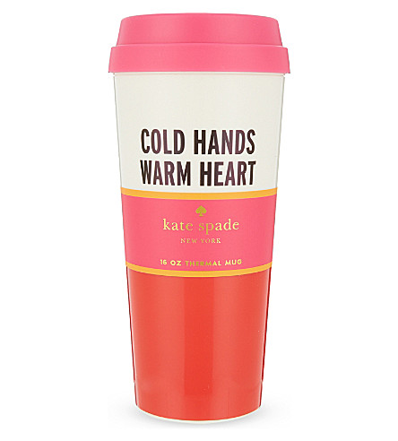 KATE SPADE NEW YORK Cold hands warm heart thermal mug 16oz
