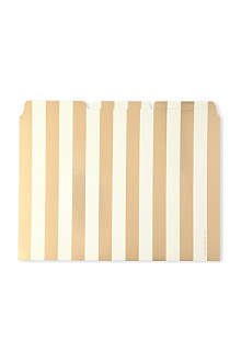 KATE SPADE Gold-toned stripe file folders