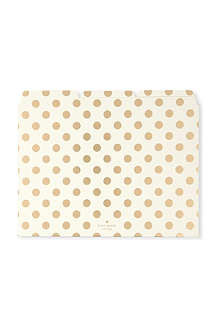 KATE SPADE Polka dot file folders