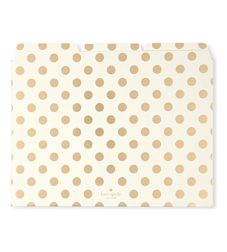 KATE SPADE NEW YORK Polka dot file folders