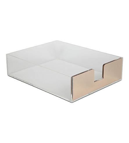 KATE SPADE NEW YORK 'things to do' desk tray