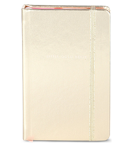 KATE SPADE NEW YORK Little gold book notebook