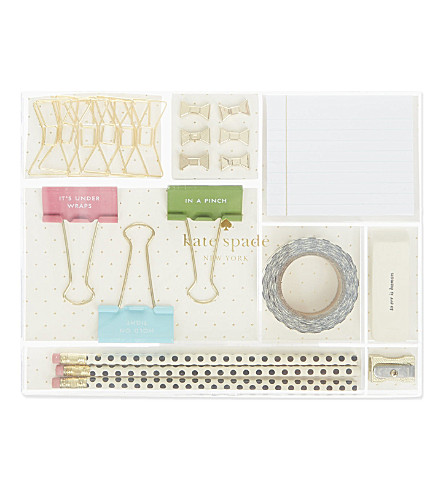 KATE SPADE NEW YORK Whistle While You Work stationery tackle box