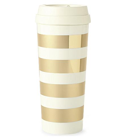 KATE SPADE NEW YORK 金色条纹热杯