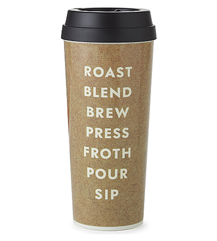 KATE SPADE NEW YORK Cream Brew Pour Sip thermal mug