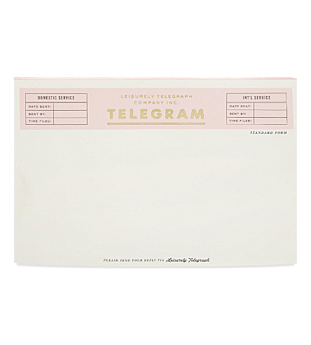 KATE SPADE NEW YORK Telegram 125 sheet notepad
