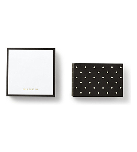 KATE SPADE NEW YORK Sticky note cube black dots