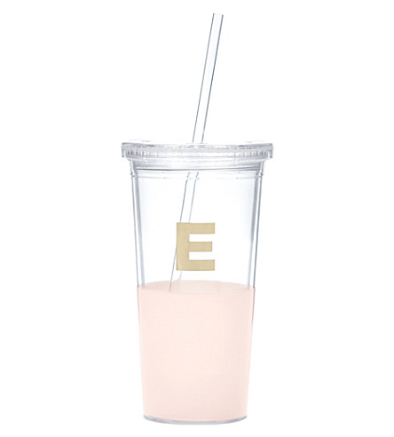 KATE SPADE NEW YORK E typography insulated tumbler