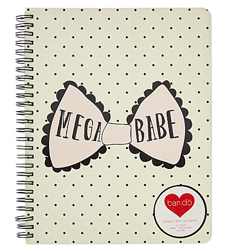 BANDO Mega babe rough draft notebook