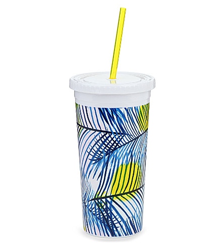 BANDO Holiday palms tumbler with straw