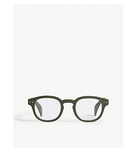 IZIPIZI Letmesee #C square-frame reading glasses +3.0