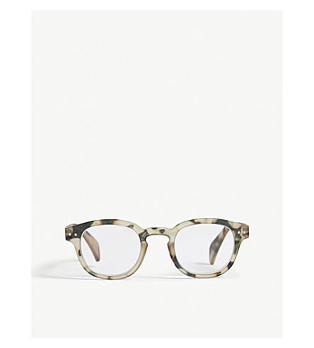 IZIPIZI Letmesee #C Tortoiseshell square-frame reading glasses +2.50