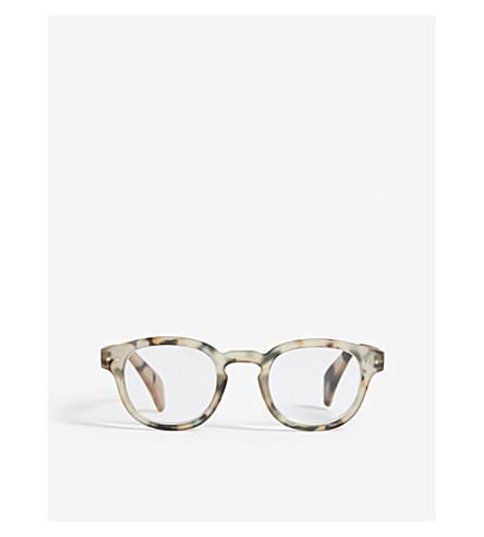 IZIPIZI LetMeSee #C tortoiseshell oval-shaped reading glasses +3.00