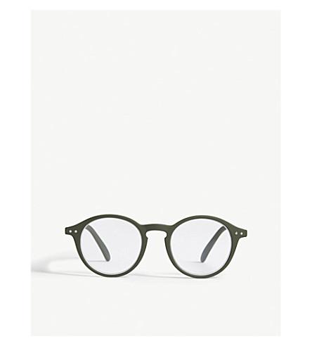 IZIPIZI Letmesee #D Kaki round-frame reading glasses +1.50