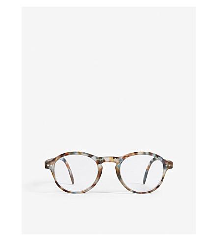 IZIPIZI LetMeSee #F tortoiseshell oval-shaped reading glasses +1.00