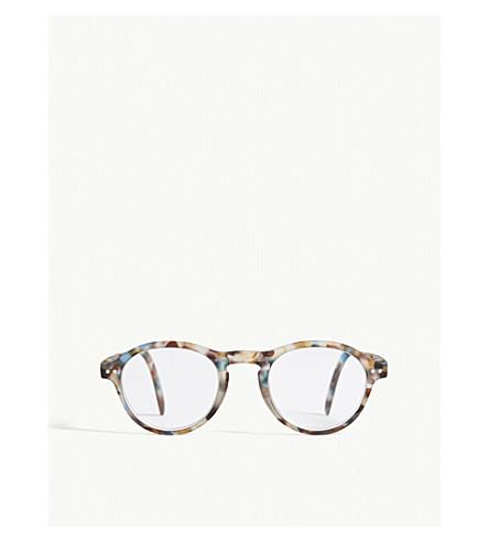 IZIPIZI LetMeSee #F tortoiseshell oval-shaped reading glasses +2.00