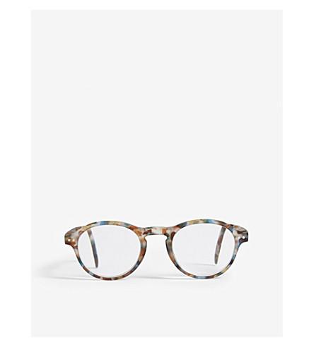 IZIPIZI LetMeSee #F blue tortoise +2.50 non-prescription glasses