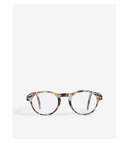 IZIPIZI LetMeSee #F tortoiseshell oval-shaped reading glasses +3.00